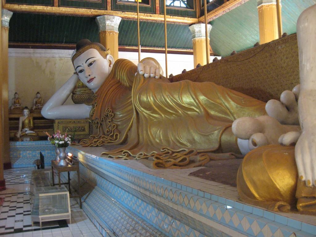 An enormous reclining Buddha in Mawlamyine