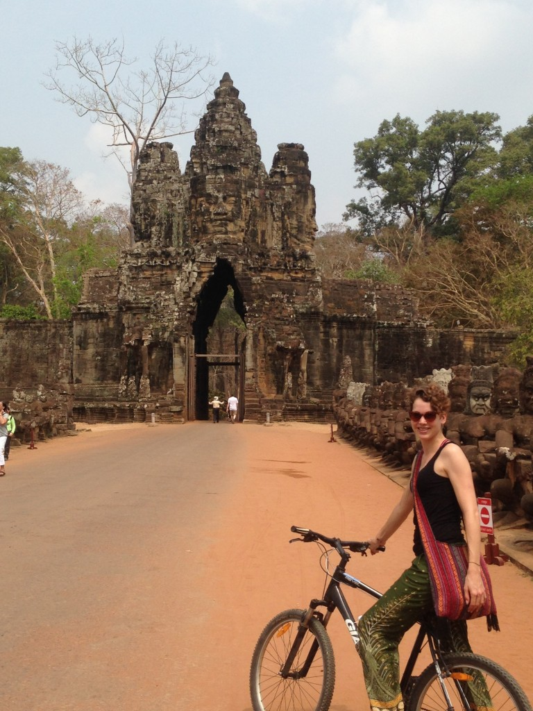 exploring Ankor Wat by bike