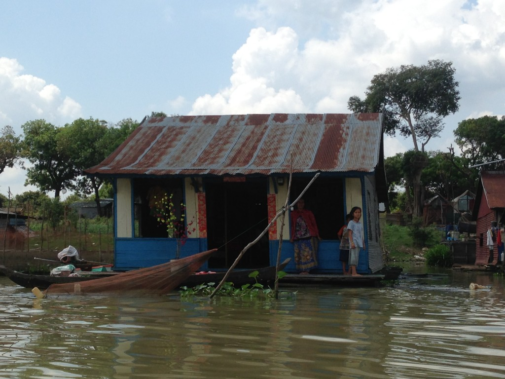 Floating house Battambang
