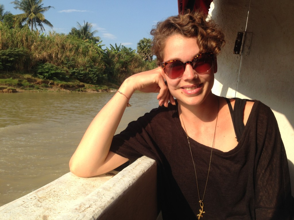me on the boat to Battambang