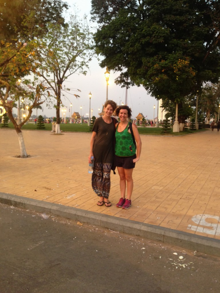 Nadia and me in Phnom Penh
