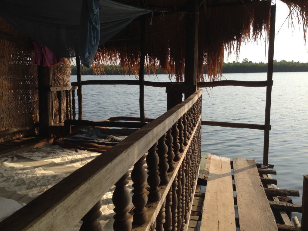 Kampot River Bungalows view