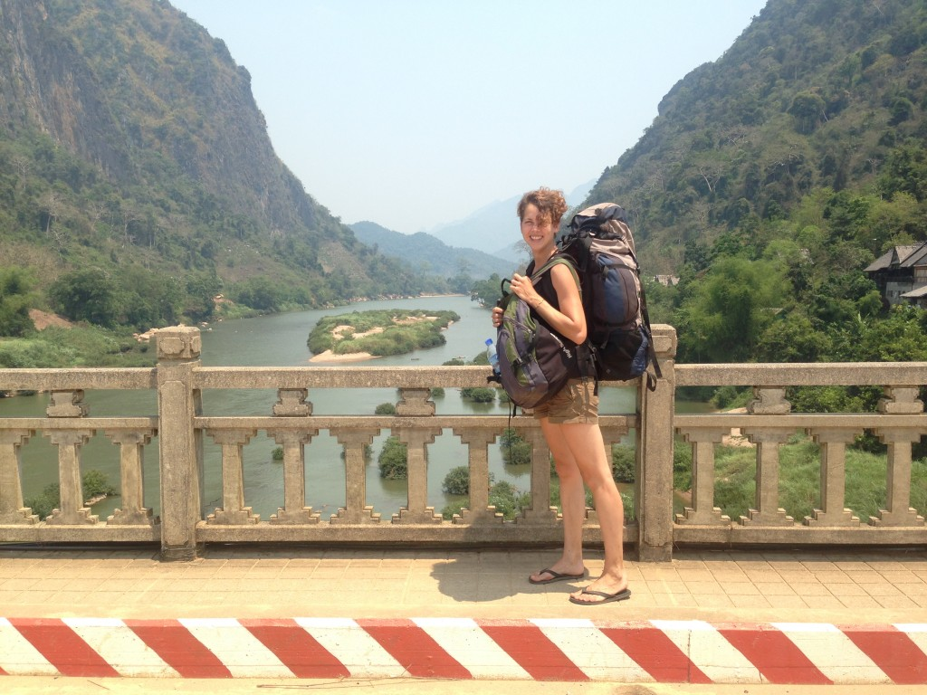 me backpacking in Laos