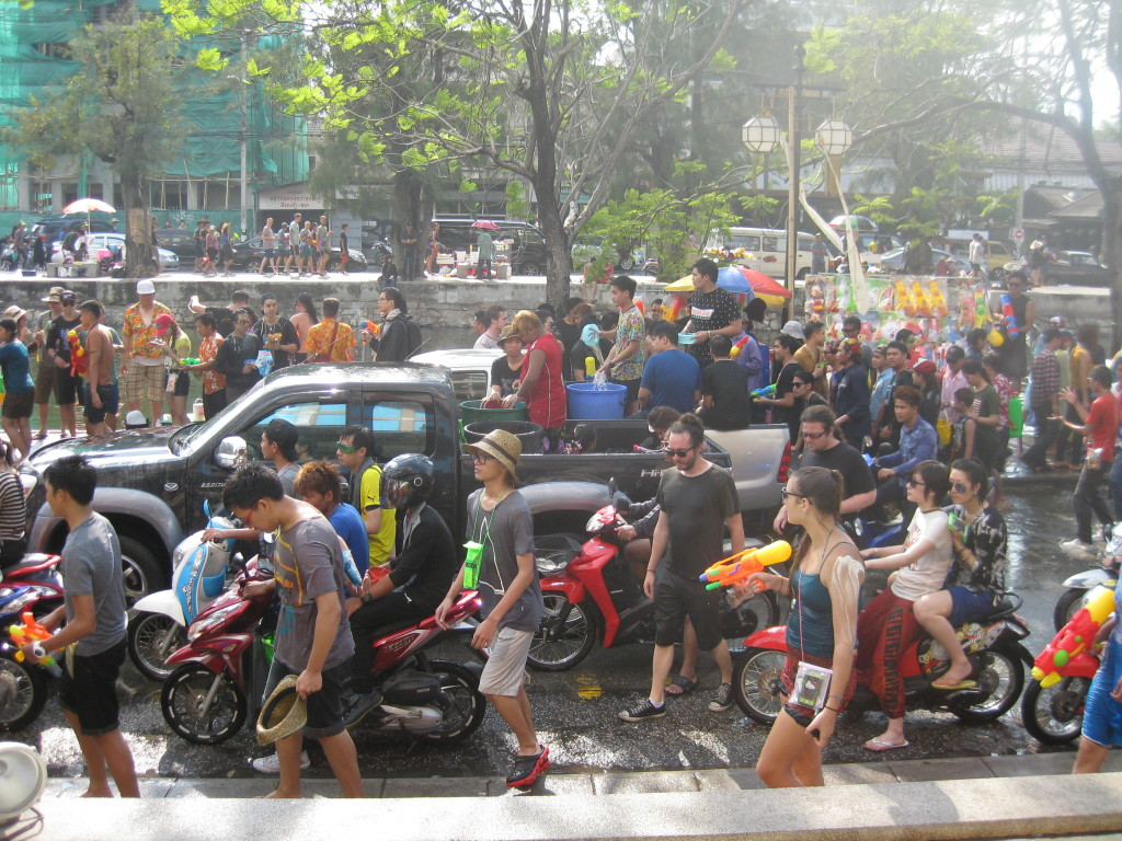 Songkran waterfight Chiang Mai