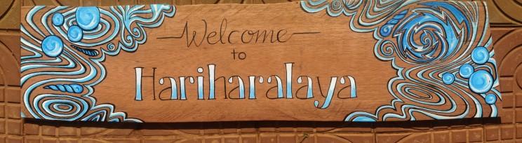 Hariharalaya Yoga meditation retreat center Cambodia signpainting