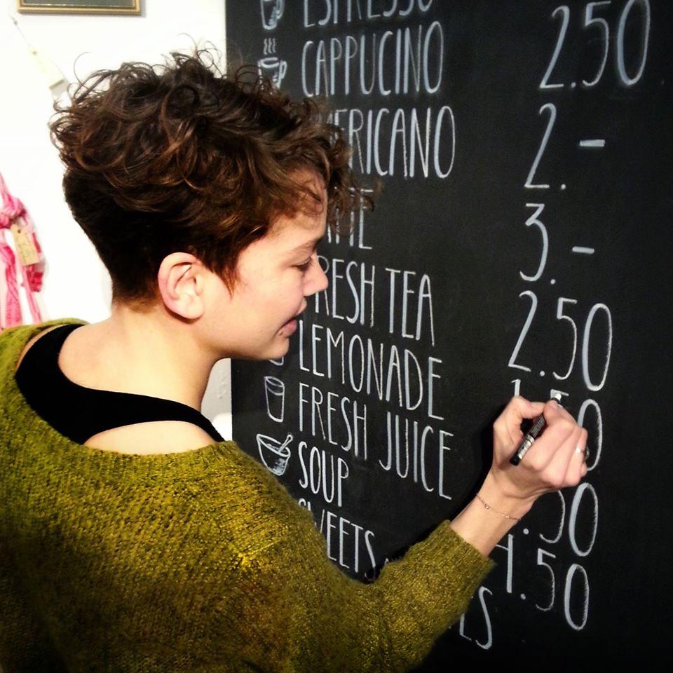 Chalkboard typography sign painting portfolio
