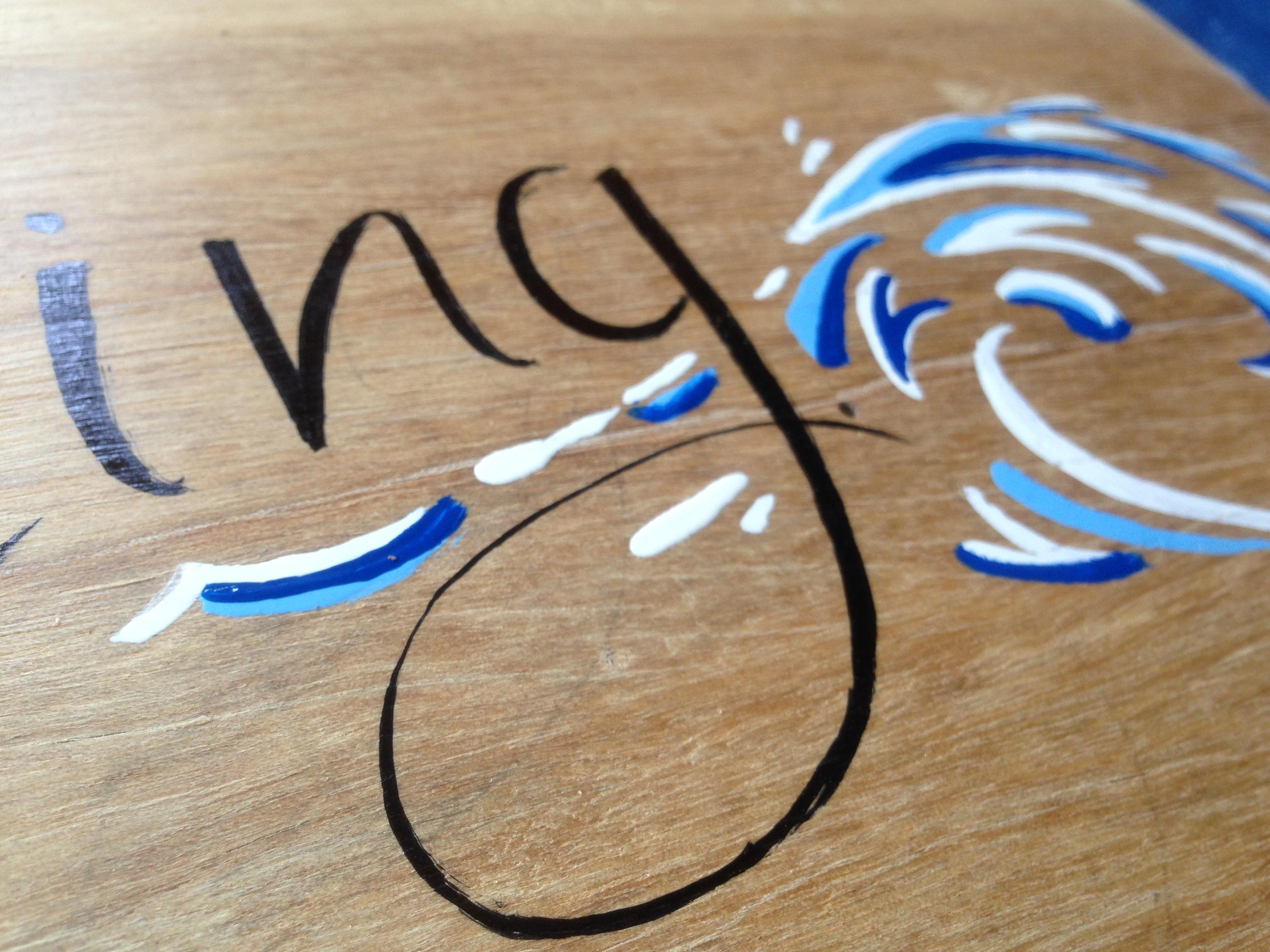 Chalkboard writing sign painting portfolio