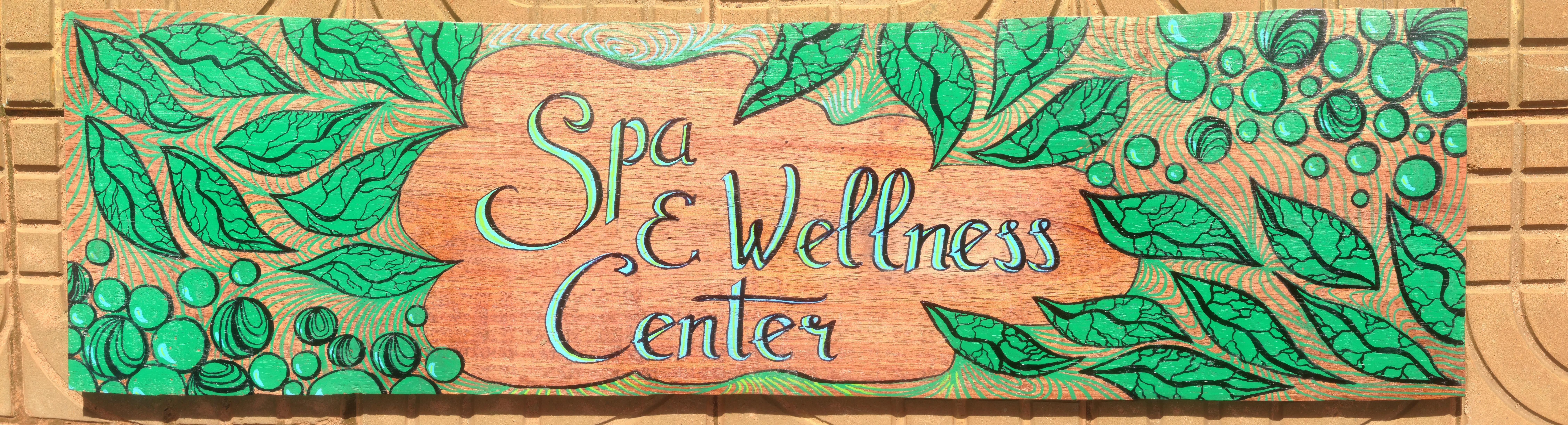 Sign painting hariharalaya yoga meditation retreat center spa welness