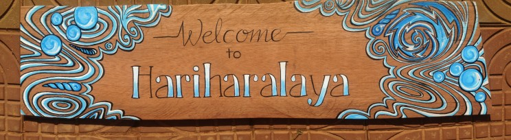 Sign painting hariharalaya yoga meditation retreat center spa welness