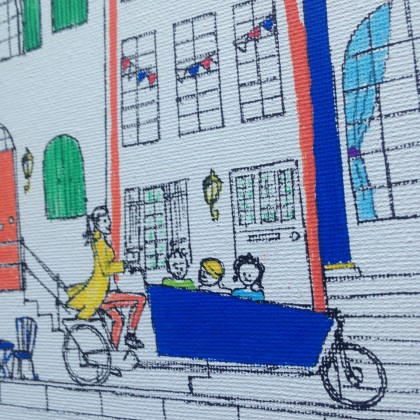 "detail of ""Canal houses of Amsterdam are full of stories"" © Lilian Leahy"