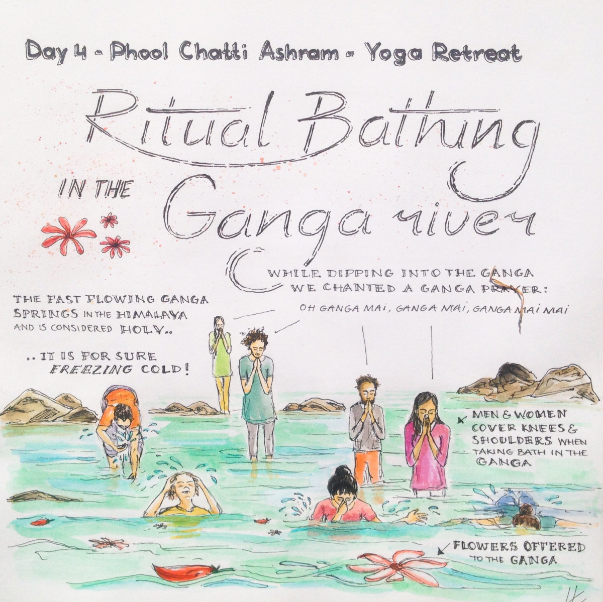4 - ritual bathing Ganga river