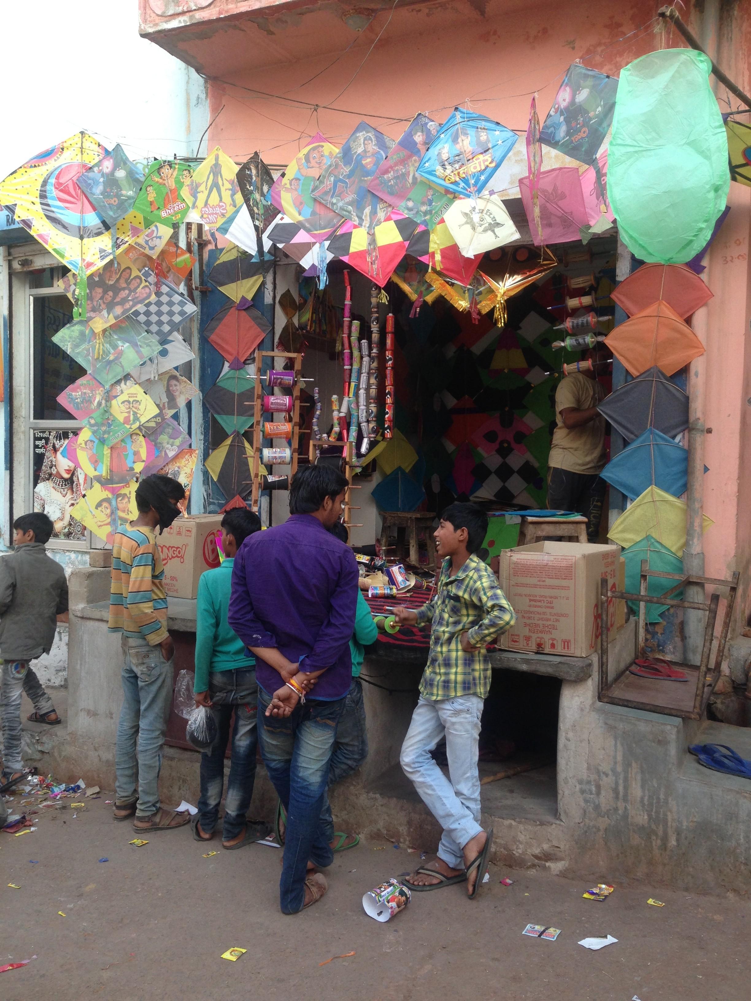 Kite festival India local kite shop