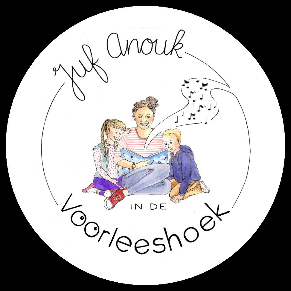 logo ontwerp lilian leahy juf anouk in de voorleeshoek video online voorlezen kinderboeken prentenboeken