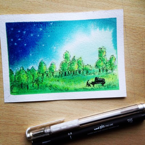 lilian leahy illustrations pianist in the field by night ecoline