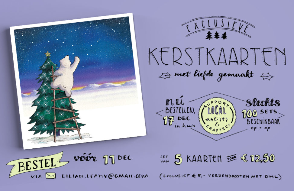 kerstkaarten bestellen lilian leahy christmas cards illustrated polar bears