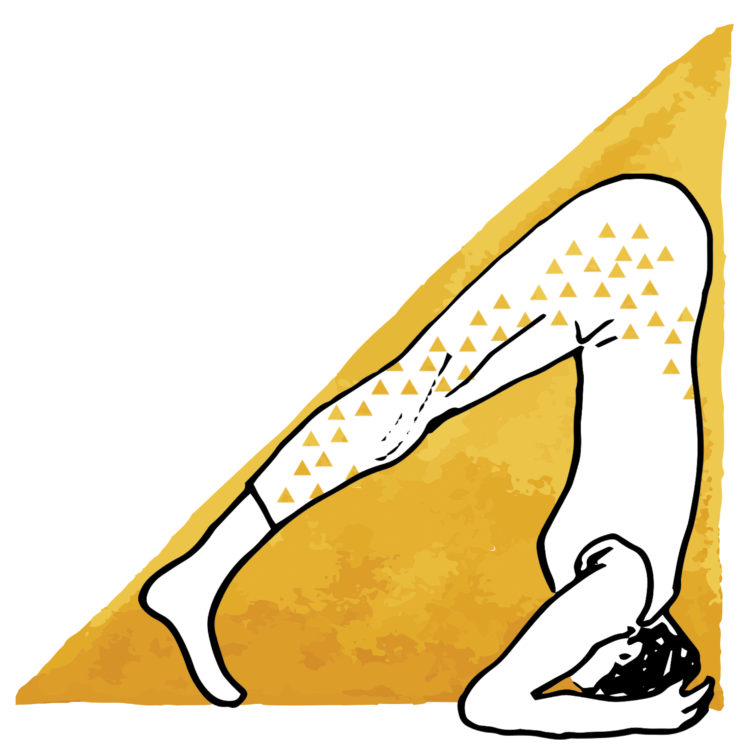 yoga krant illustraties kopstand - 1