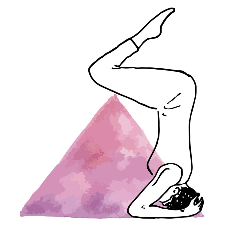 yoga krant illustraties kopstand - 2