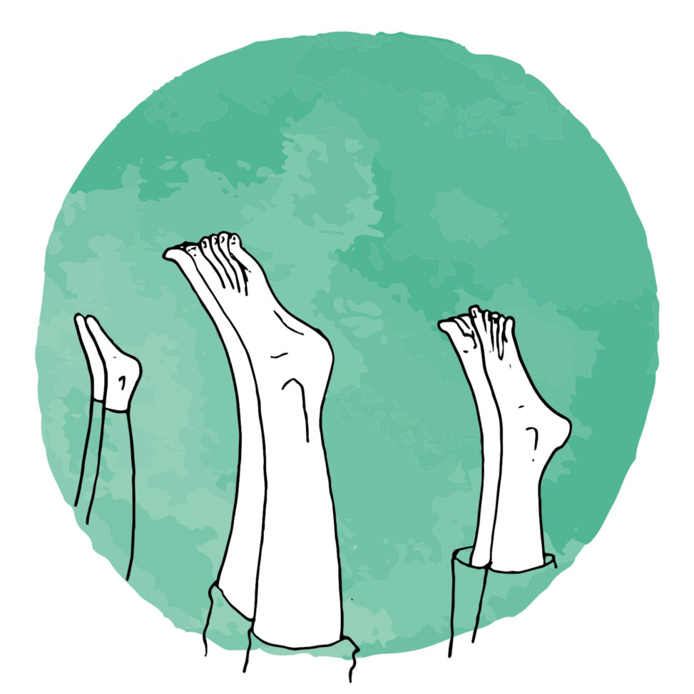 yoga illustration head stand shirshasana lilian leahy illustrator copyright
