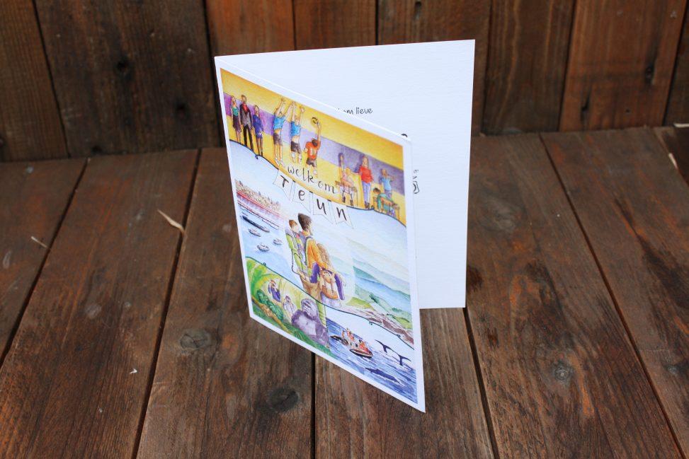birth announcement, card, geboortekaartje, original, creative, custom design, handdrawn, personal, special design, illustration, illustrator, lilian leahy, rotterdam