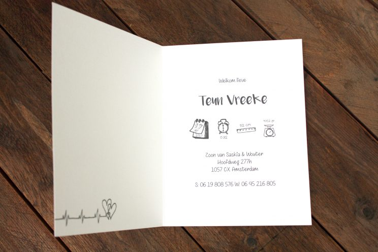 birth announcement, card, geboortekaartje, original, creative, custom design, handdrawn, personal, special design, illustration, illustrator, lilian leahy, rotterdam