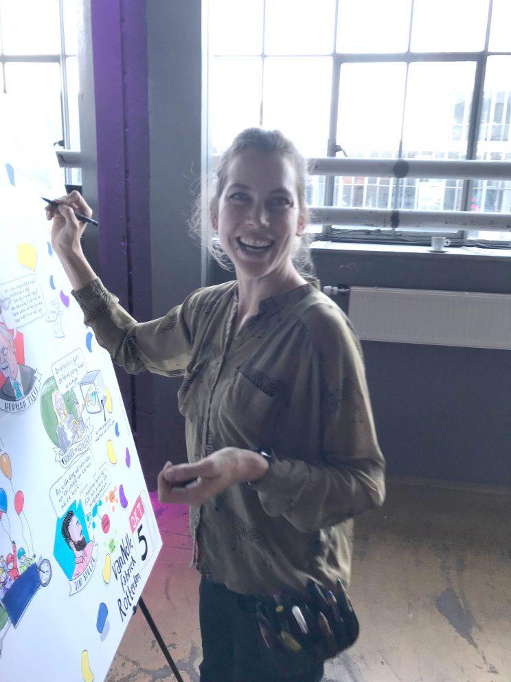 getekend verslag live tekenaar zakelijk tekenen visual storytelling lilian leahy illustrations illustrator rotterdam