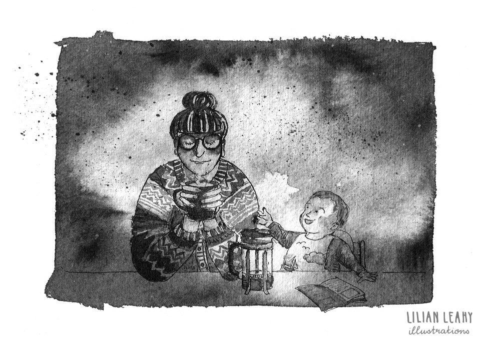 inktober art challenge instagram lilian leahy illustrations illustrator illustration art ink drawing ecoline motherhood