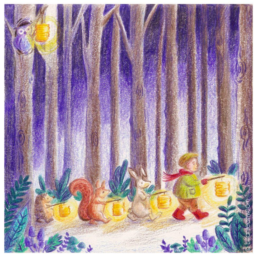 folktaleweek illustration illustrator childrensillustration bookillustration picturebookillustration sint maarten forest