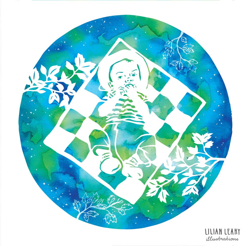 paper cut ecoline baby sleeps lilian leahy illustrations