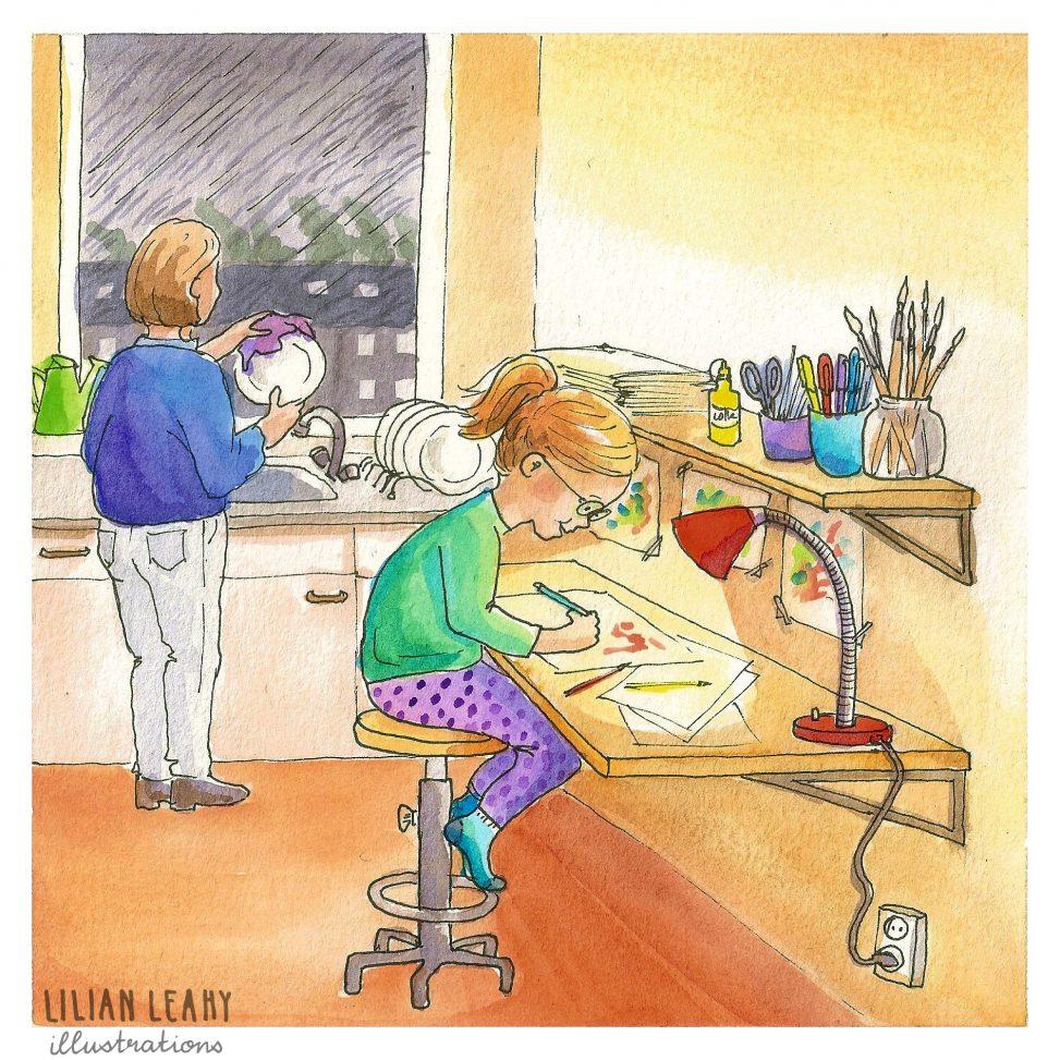 childhoodweek 2018, art challenge, illustrations, instagram, illustration, illustrator, lilian leahy, drawing, watercolour, childhood memories, childrensillustrator, childrensbook, bookillustrstions