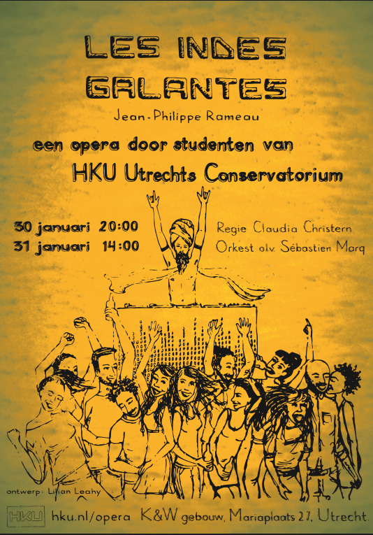 HKU Opera Les Indes Galantes Poster ontwerp