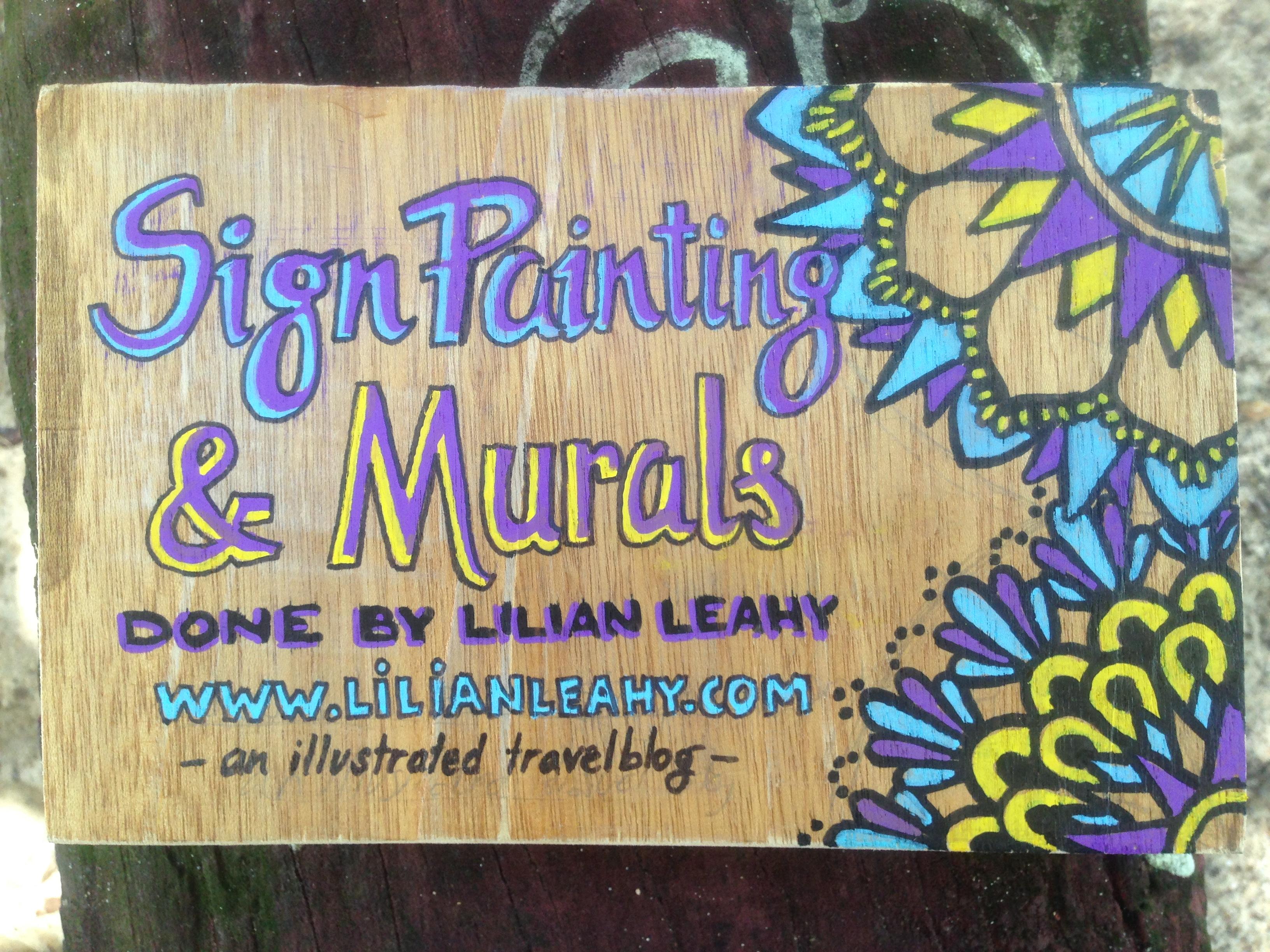 sign painting hand lettering lilian leahy rotterdam thailand sabai sabai beach bungalows