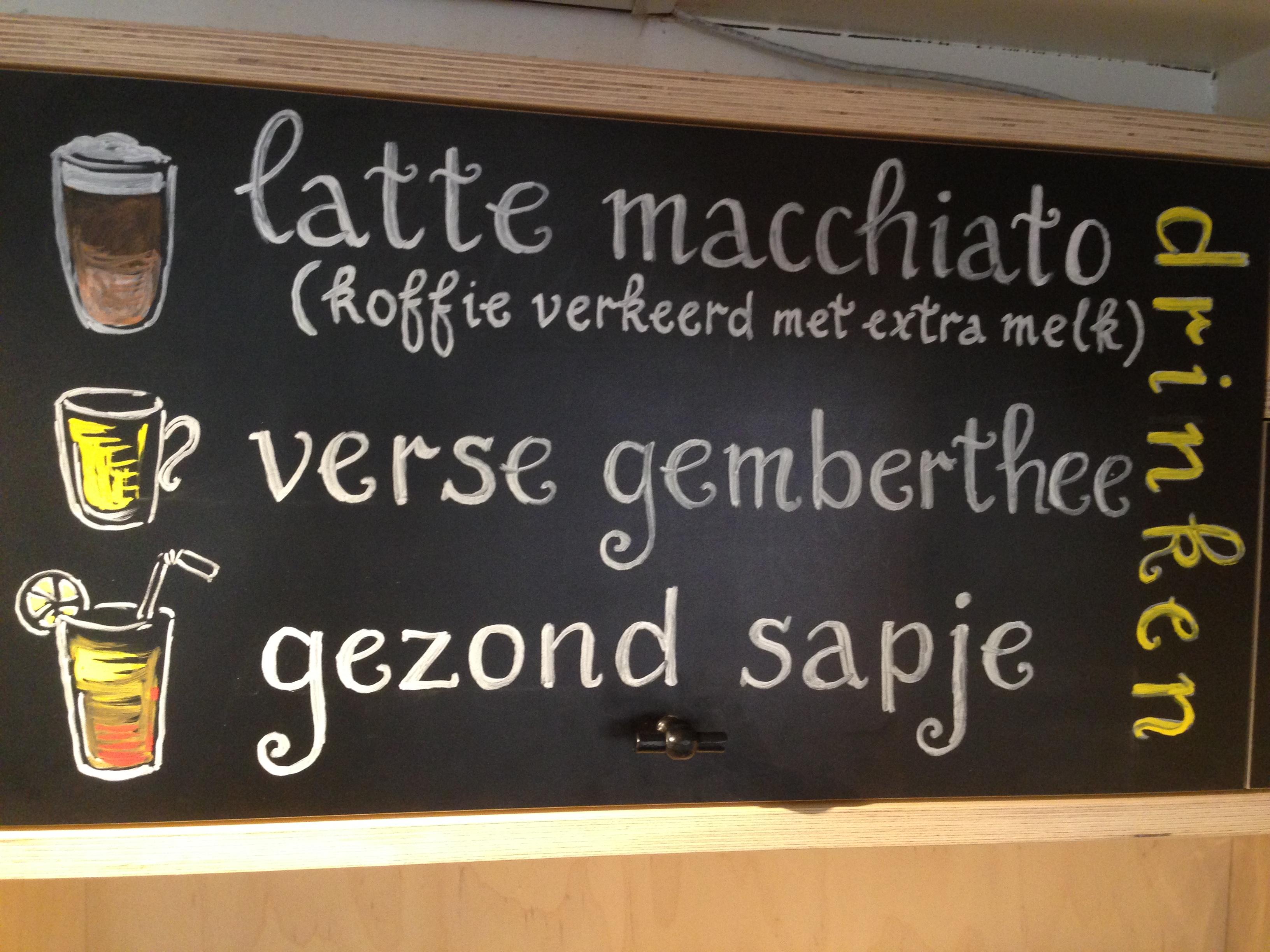 handlettering menuborden chalkboardart krijtbordkunst krijtbordtekenaar Lilian Leahy Rotterdam Amsterdam