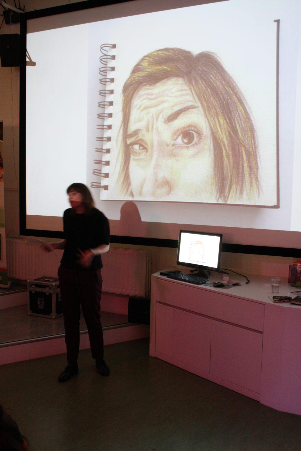 Koosje Koene, Sketchbook Skool, rotterdam, talk & draw 010, event, meetup, digital playground rotterdam, illustrator, creative, network, lilian leahy, 6th edition, art talk