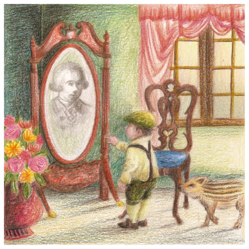 folktaleweek illustration illustrator childrensillustration bookillustration picturebookillustration mirror magic