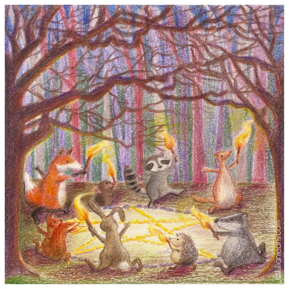 folktaleweek illustration illustrator childrensillustration bookillustration picturebookillustration witch witchcraft forest