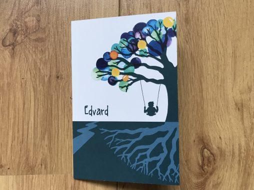 birth announcement card lilian leahy illustrator commission hand drawn design